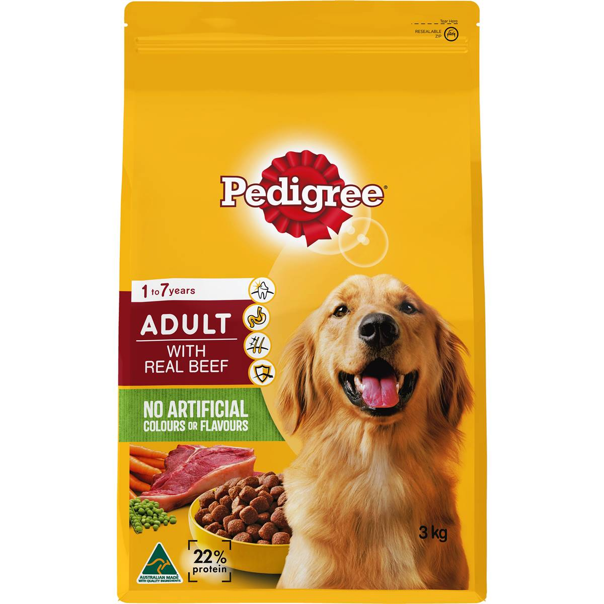 Pedigree Adult Dog Food With Real Beef